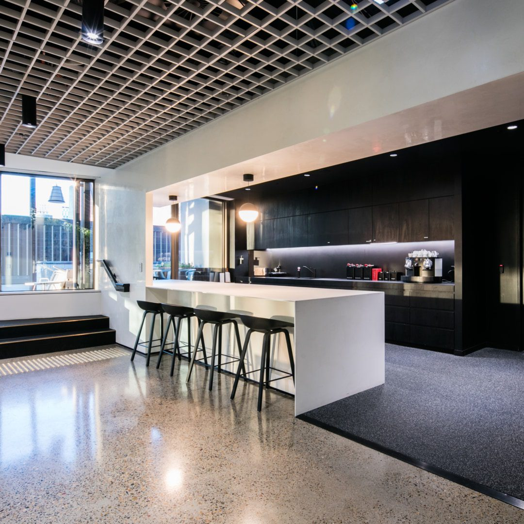 Office Receptiondesign: Buildcorp: New Build, Fit-out